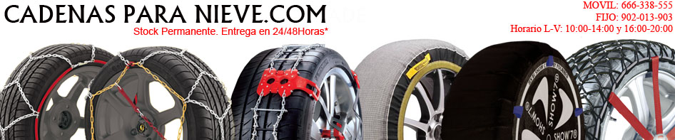 Cadenas para nieve Michelin Easy grip compras Spike